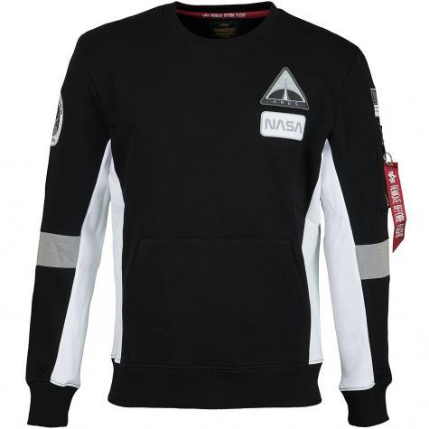 Alpha Industries Sweatshirt Space Camp schwarz
