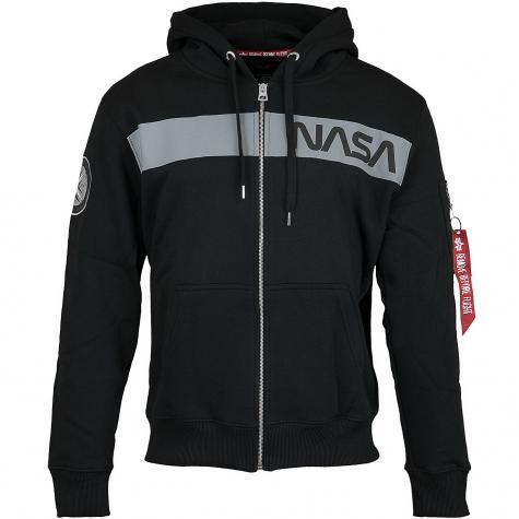 Alpha Industries Zip-Hoody NASA RS Zip schwarz