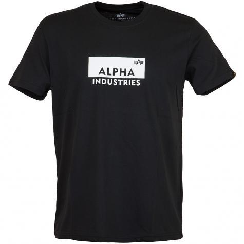 Alpha Industries T-Shirt Box Logo schwarz