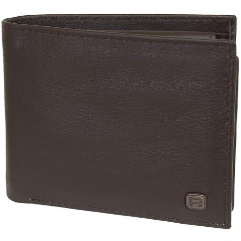 Reell Geldbörse Button Leather braun
