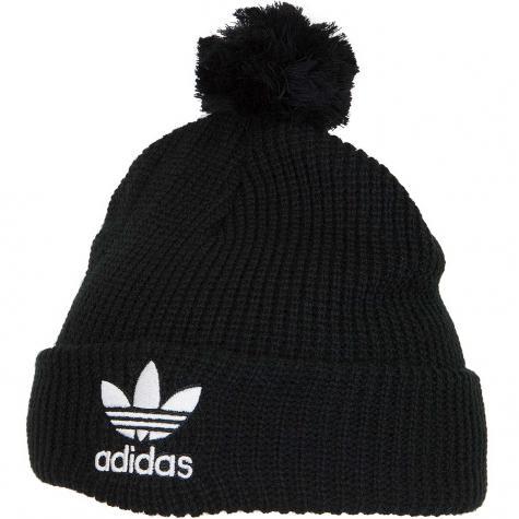 Adidas Originals Beanie Pom Pom schwarz
