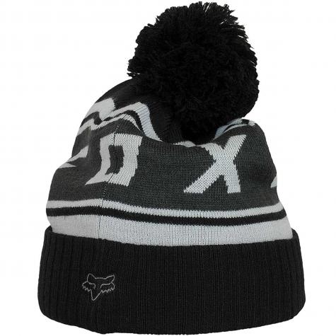 Fox Beanie Black Diamond Pom schwarz