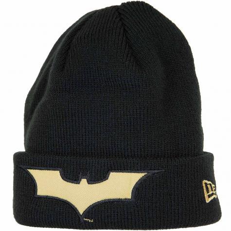 New Era Kinder Beanie Character Knit Batman schwarz/gold