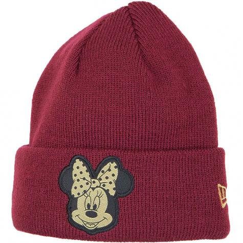 New Era Kinder Beanie Character Knit Minnie Mouse bordeaux/gold