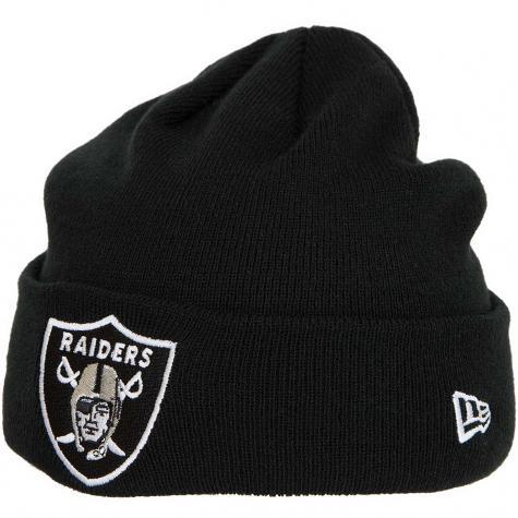 New Era Beanie Team Essential Cuff Oakland Raiders schwarz