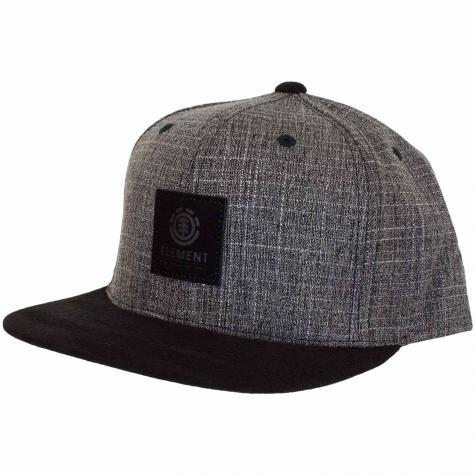 Element Snapback Cap State II schwarz grid