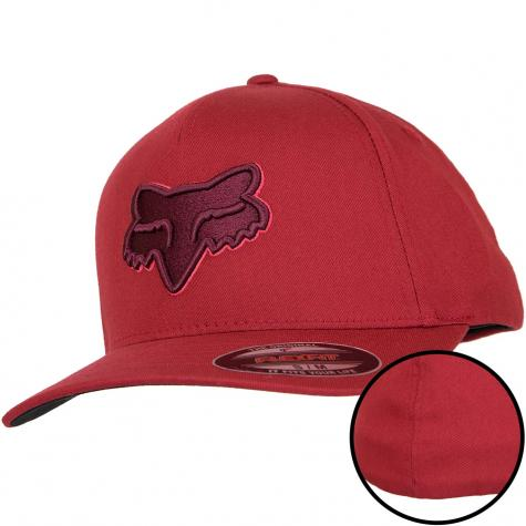 Fox Flexfit Cap Epicycle dunkelrot