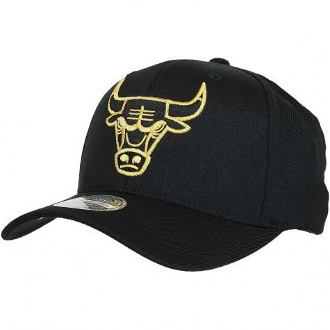 Mitchell & Ness Snapback Cap Black & Gold Chicago Bulls schwarz