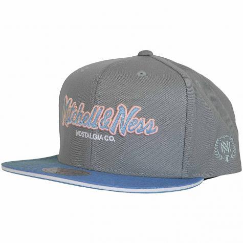 Mitchell & Ness  Snapback Cap The Flamingo Pinscript grau/hellblau
