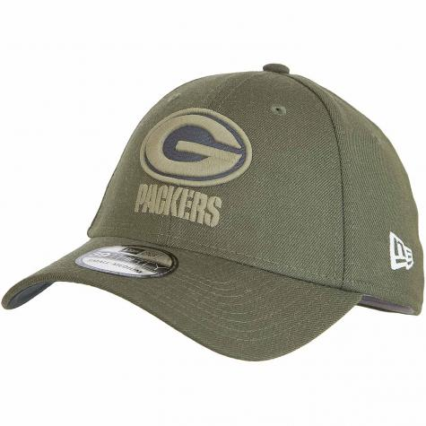 New Era 39Thirty Fitted Cap OnField 18 STS Greenbay Packers oliv