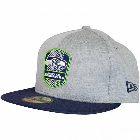 New Era 59Fifty Fitted Cap OnField Road Seattle Seahawks grau/dunkelblau