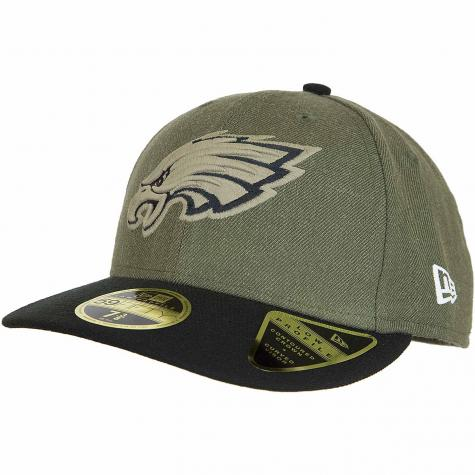New Era 59Fifty Fitted Cap OnField 18 STS Philadelphia Eagles oliv