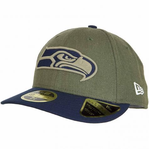 New Era 59Fifty Fitted Cap OnField 18 STS Seattle Seahawks oliv