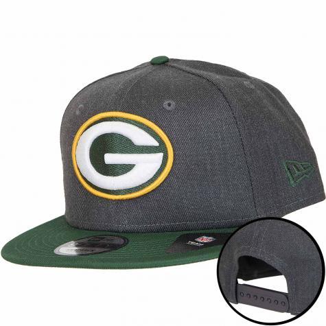 New Era 9Fifty Snapback Cap NFL Heather Packers grau