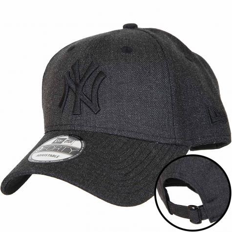 New Era 9Forty Snapback Cap Heather Essential NY Yankees schwarz