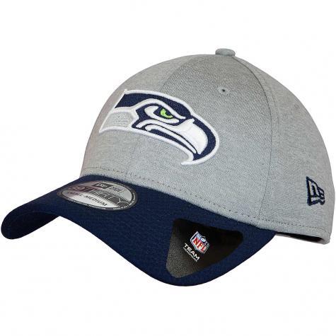 New Era 39Thirty Fitted Cap Jersey Hex Seattle Seahawks grau/dunkelblau