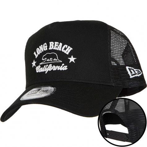 New Era 9Forty Trucker Cap Long Beach schwarz/weiß