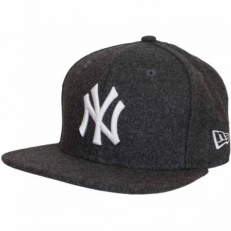 New Era 9Fifty Snapback Cap MLB Melton NY Yankees graphit dunkelgrau