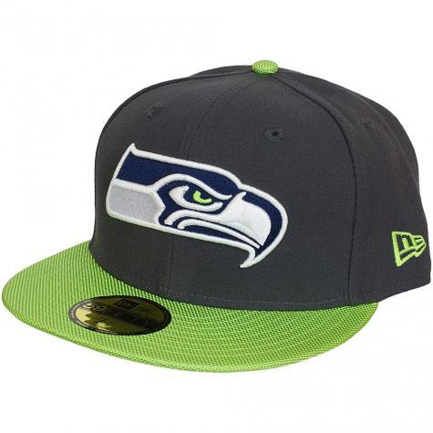 New Era 59Fifty Fitted Cap NFL Ballistic Visor Seattle Seahawks grau