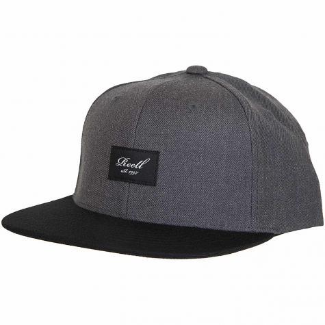 Reell Snapback Cap Pitchout heather charcoal/schwarz