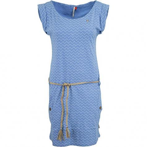 Ragwear Kleid Tag Zig Zag blau