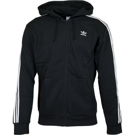 Adidas Originals Zip-Hoody 3 Stripes schwarz