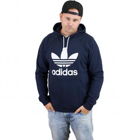 Adidas Originals Hoody Trefoil dunkelblau/weiß