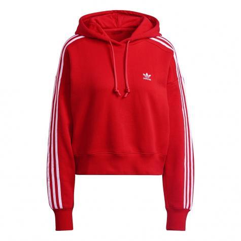 Adidas Cropped Damen Hoody rot