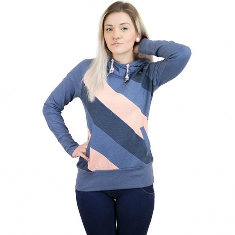 Mazine Damen Hoody Tasty Light dunkelblau/peach