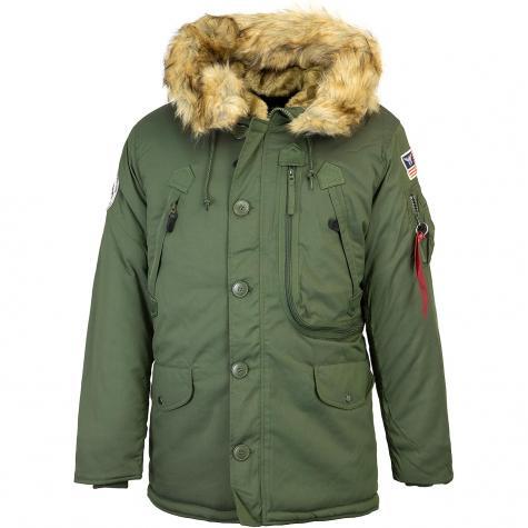Alpha Industries Polar Jacke grün