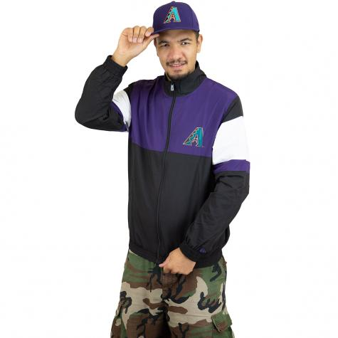 New Era Trainingsjacke MLB Coats 2 Coast Arizona Diamondbacks schwarz/lila