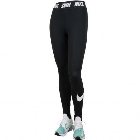 Nike Leggings Club High Waist schwarz/weiß