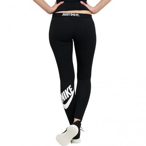 Nike Leggings Leg-A-See Logo schwarz/weiß