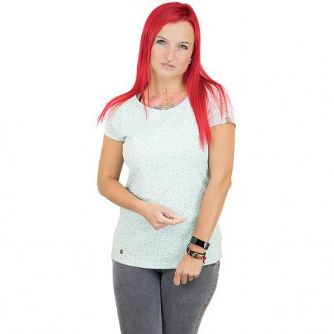 Ragwear Damen T-Shirt Mint Dots ice green