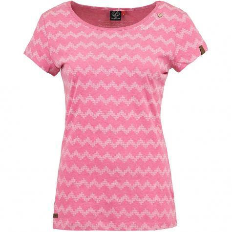 Ragwear Damen T-Shirt Mint Zig Zag pink