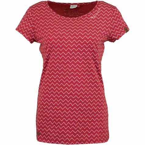 Ragwear Damen T-Shirt Mint Zig Zag rot