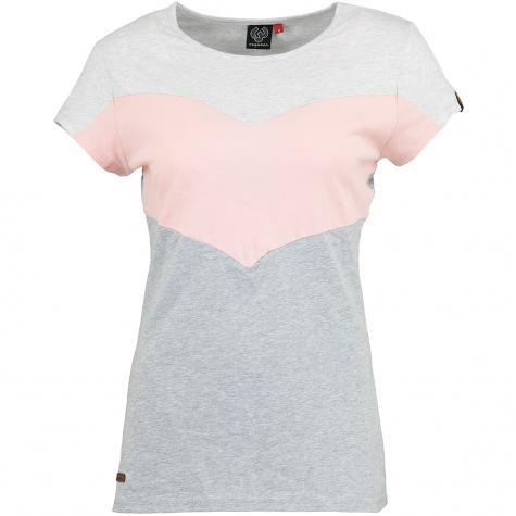 Ragwear Damen T-Shirt Trefa weiß/rosa/grau