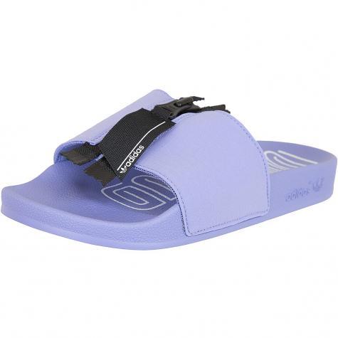 Adidas Originals Damen Badelatschen Adilette Zip lila