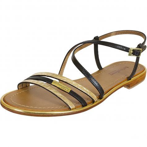 Les Tropeziennes Damen Sandalen Balise schwarz/bronze