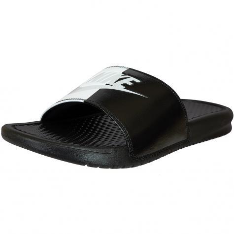 Nike Badelatschen Benassi Just Do It schwarz/weiß