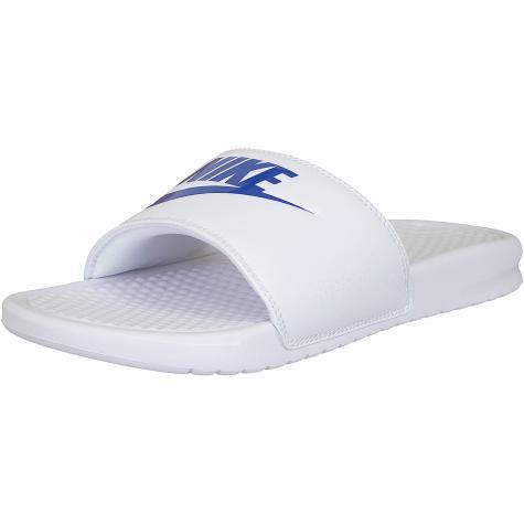 Nike Badelatschen Benassi Just Do It weiß/royal