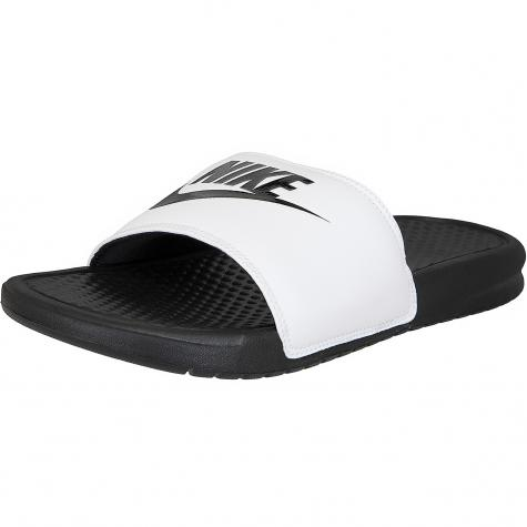 Nike Badelatschen Benassi Just Do It weiß/schwarz