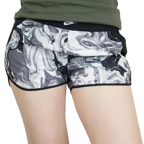 Nike Damen Shorts Marble weiß/schwarz/grau