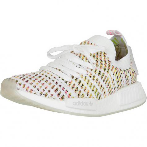 Adidas Originals Damen Sneaker NMD R1 STLT Primeknit weiß/gelb/pink