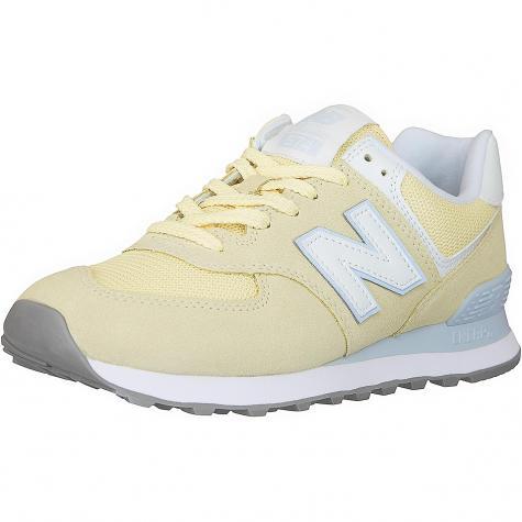 New Balance Damen Sneaker 574 Wildleder/Mesh gelb
