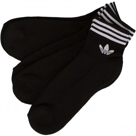Adidas Originals Socken Trefoil Ankle Stripes schwarz