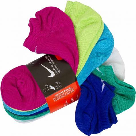 Nike Damen Socken Lightweight No-Show 6er mehrfarbig