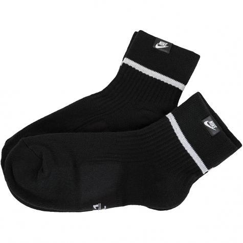 Nike Socken Essential Ankle 2er schwarz/weiß