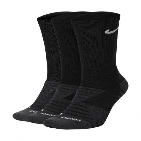 Nike Dry Cushion Crew Training Socken 3er Pack schwarz
