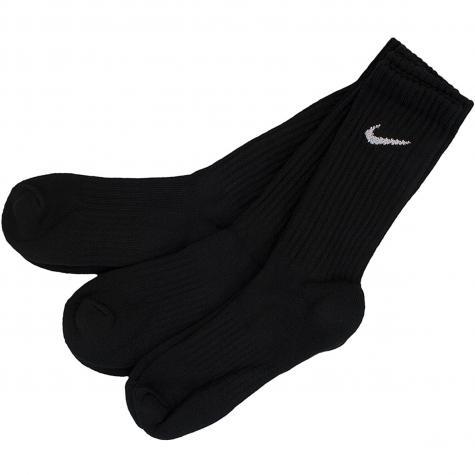Nike Socken Value Cotton Crew (3er Pack) schwarz/weiß